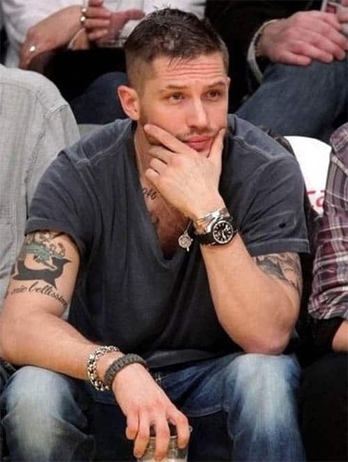 High Fade Messy Spikes - Best Tom Hardy Haircut