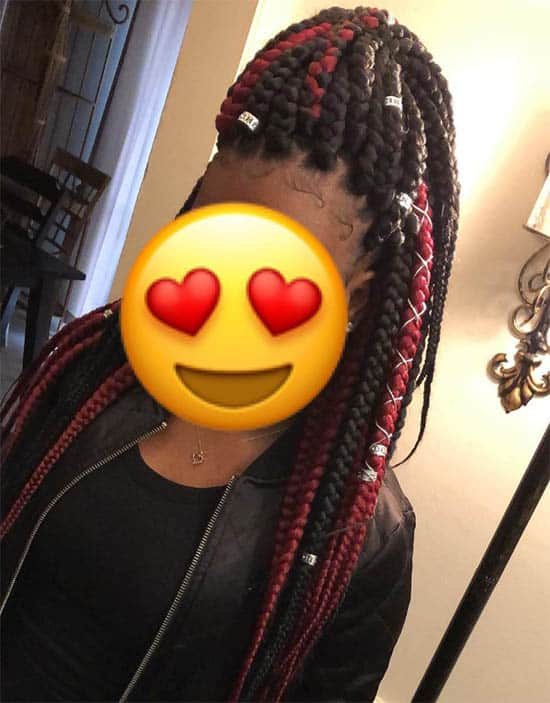 High Ponytail Box Braids For Black Women