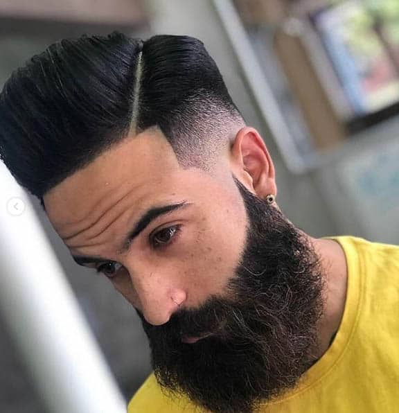 High Top + Hard Part Hairstyle