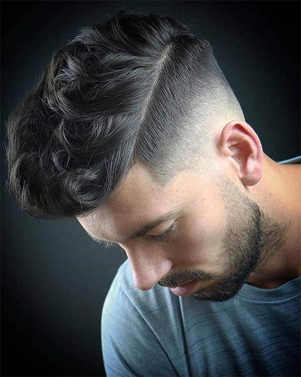 High Wavy Hair With Beard - Men's Wavy Hairstyles