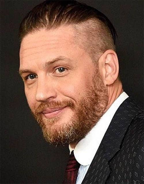 Long Fade with Beard - Best Tom Hardy Haircut