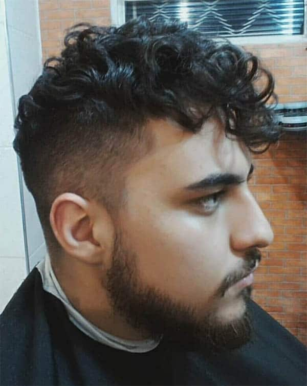 Long Fringe + Beard - Medium Length Hairstyles For Men