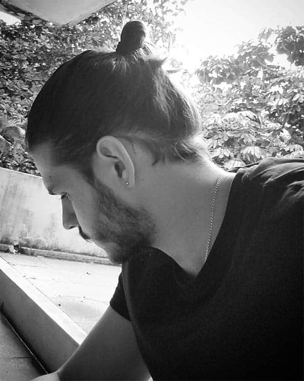 Looped and Banded Samurai Men's Bun