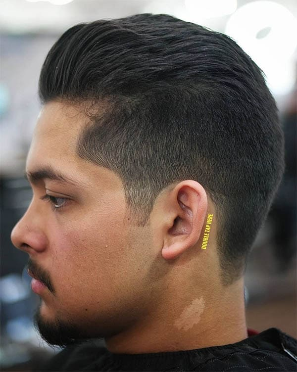 Low Fade Slick Back Haircut For Men