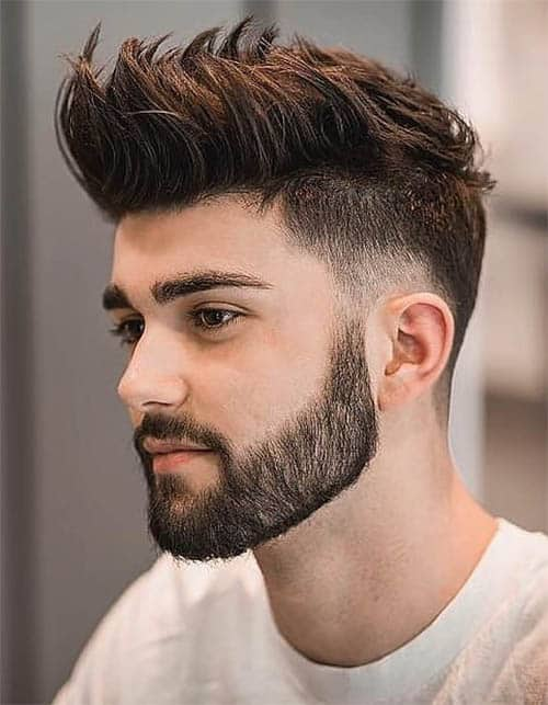 Low Fade with Beard , Men\u0027s Long Hair With Undercut Hairstyles
