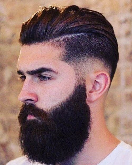 Low Taper + Hard Part Hairstyle