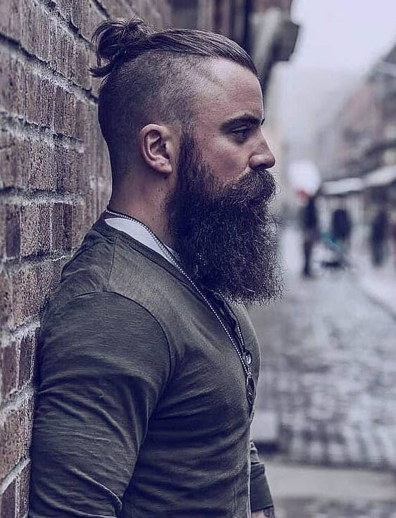 Man Bun on Shaved Sides - Short Sides Long Top Hairstyles For Men