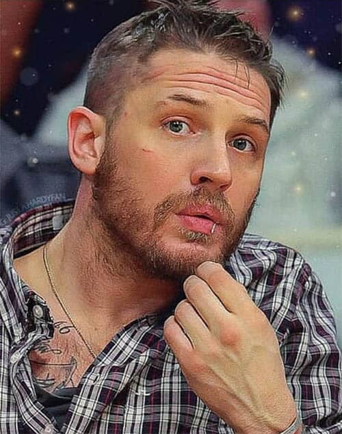Medium Fade with Beard - Best Tom Hardy Haircut