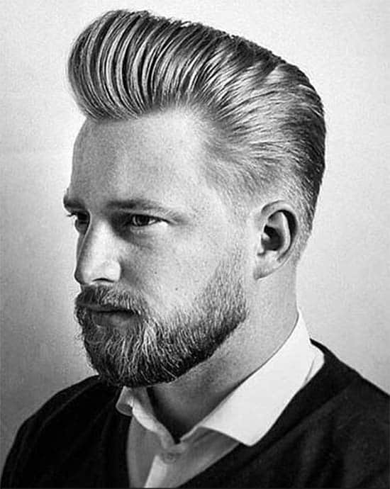 Medium Slick Back Wavy Haircut For Men