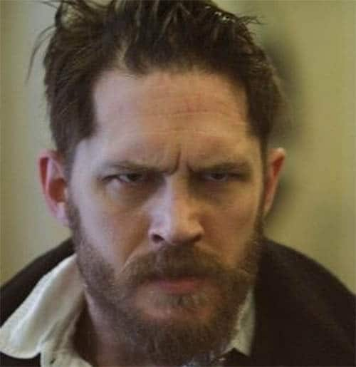Messy Long with Beard - Best Tom Hardy Haircut