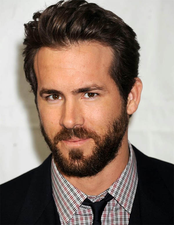 Modern Pompadour Bangs - Ryan Reynolds Best Haircuts
