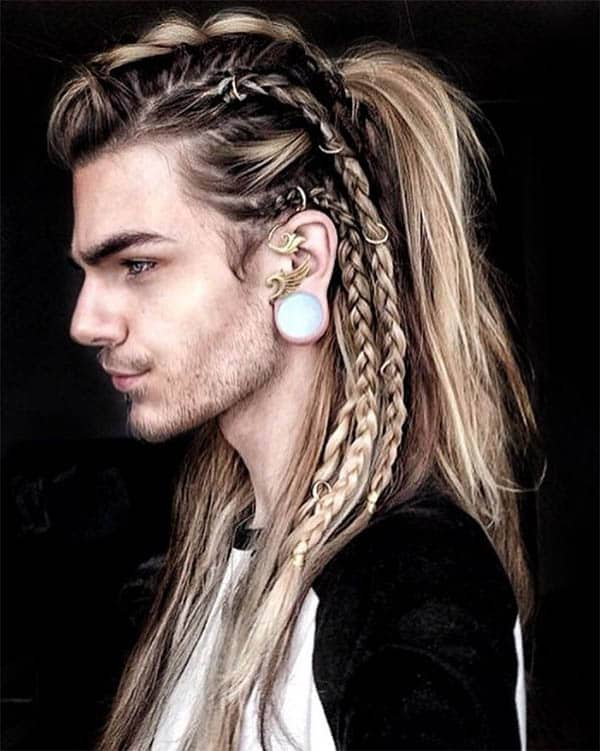 Mohawk with Braided Sides - best Viking Hairstyles