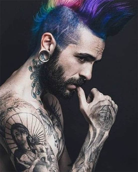Multi Colored Mohawk - Punk Hairstyles For Men