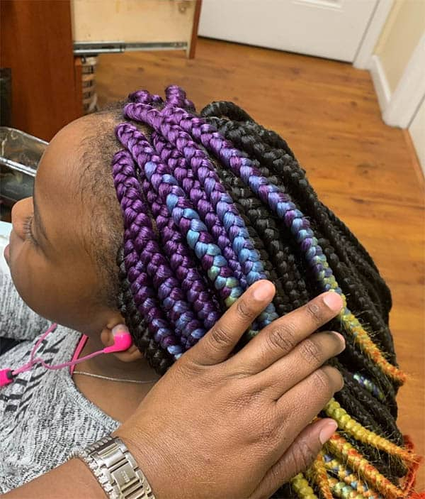 Playful Style Here Box Braids For Black Women