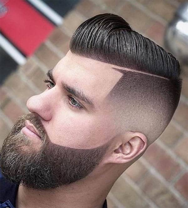 Pomp + Hard Part Hairstyle