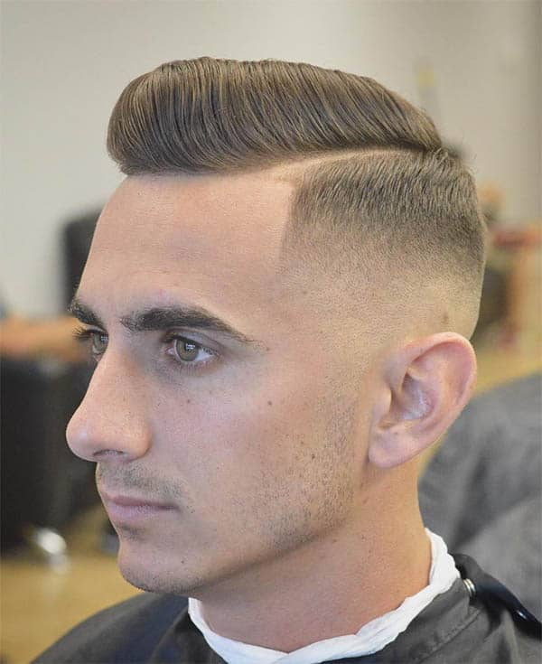Pompadour + Side Part - Best Military Haircuts