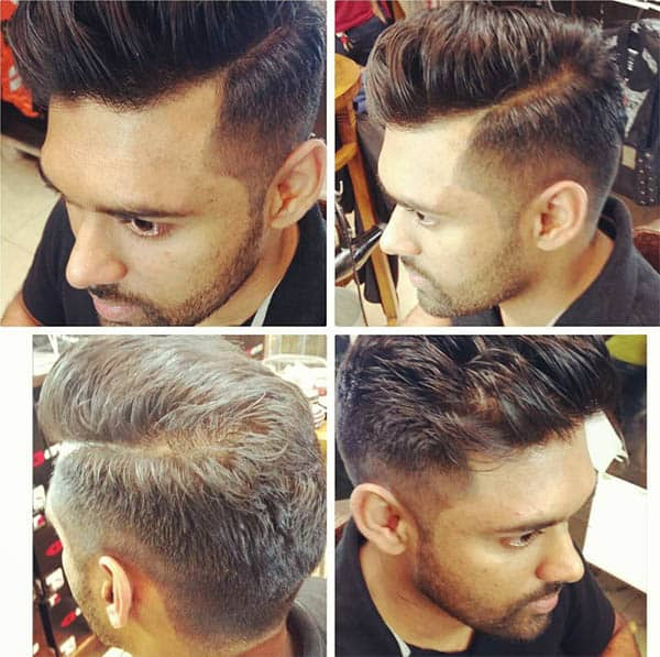 Pompadour + Skin Fade - Medium Length Hairstyles For Men