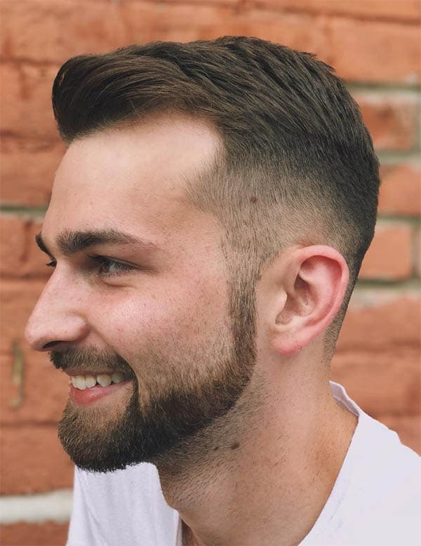 Quiff + Taper Fade - Haircuts For Balding Men