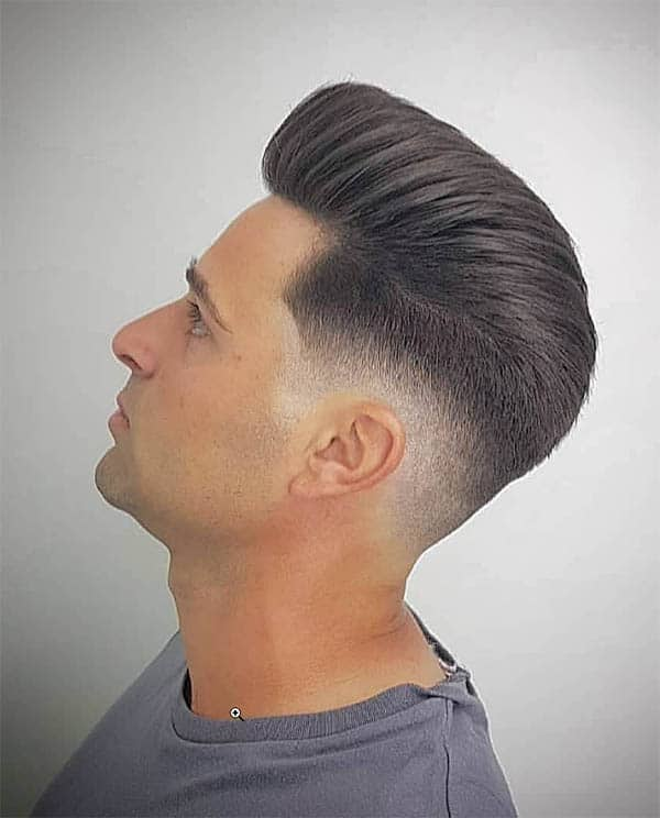 Rocking Retro Fade - Slick Back Haircuts For Men