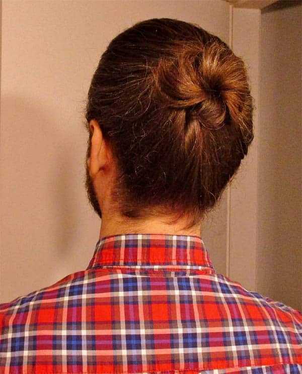 Sable Brown Man Bun - Trendy Samurai Hairstyles