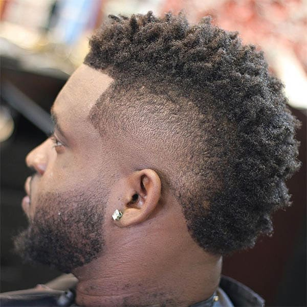 Short Black Mohawk - High Top Fade Haircuts