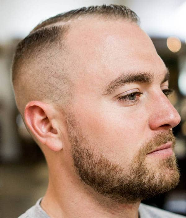 Short Crew and Side Part - Haircuts For Balding Men