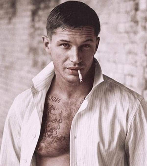 Short Straight - Best Tom Hardy Haircut
