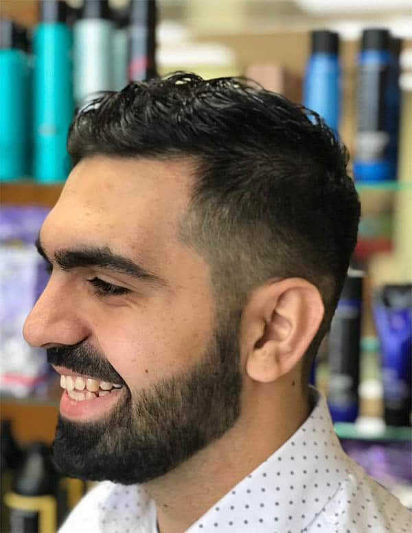 Short Wavy Hair + Fade - Men's Wavy Hairstyles