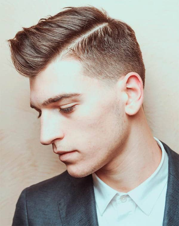 Side Part Comb Over + Undercut - Disconnected Undercut Hairstyles