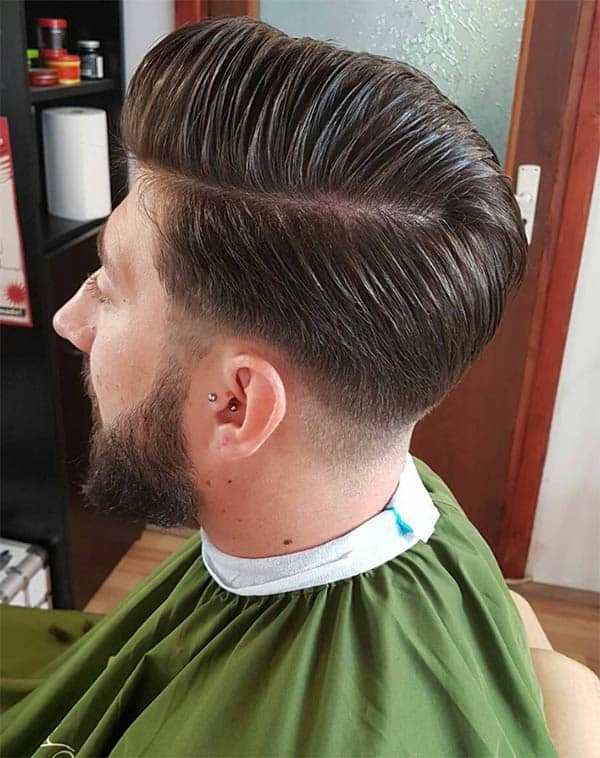 Side Part Pompadour - Medium Length Hairstyles For Men