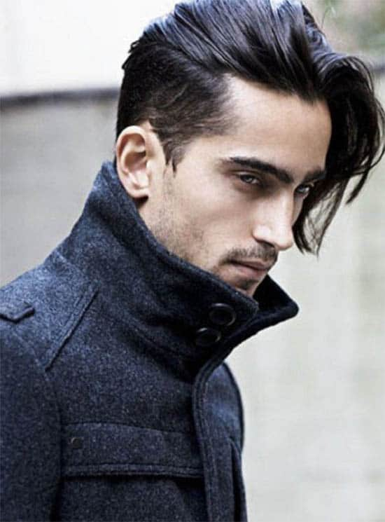 Side Part + Side Sweep - Long Haircuts For Men