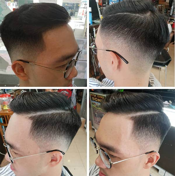Side Part + Skin Fade - Medium Length Hairstyles For Men