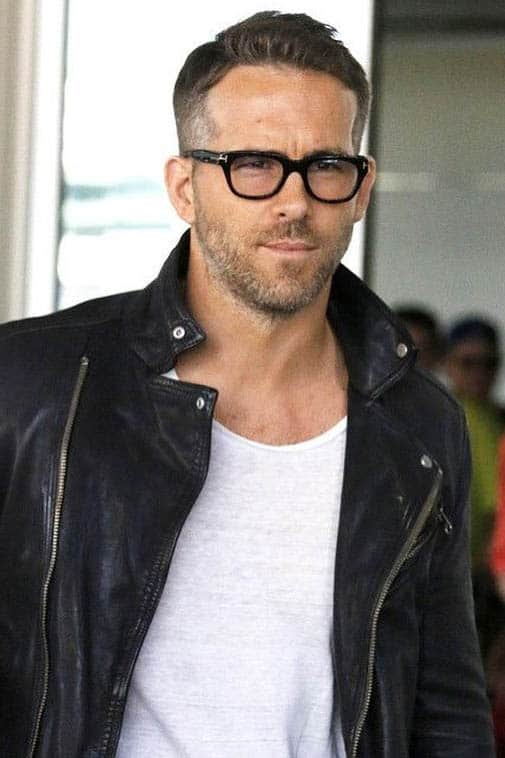 Side Part and Wavy Top - Ryan Reynolds Best Haircuts