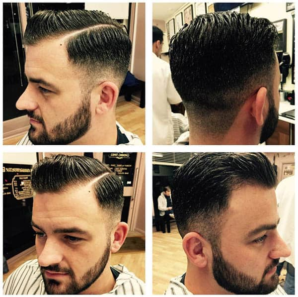 Side Pompadour and Side Part - Mid Fade Haircuts For The Stylish Man