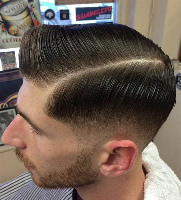 Side Sweep + Middle Part - Undercut Hairstyles For Classy Men