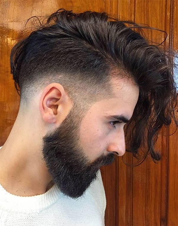 Side Sweep + Undercut - Long Haircuts For Men