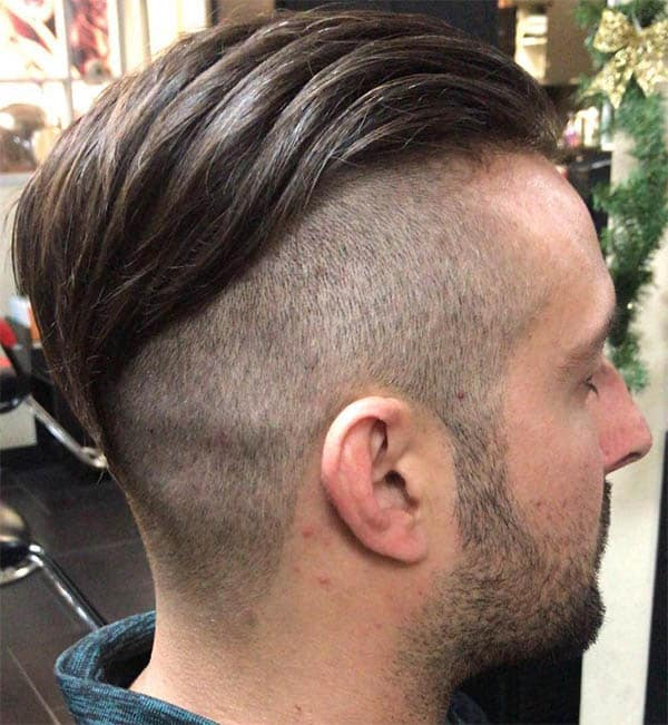 Skin Fade with Beard - Men's Long Hair With Undercut Hairstyles