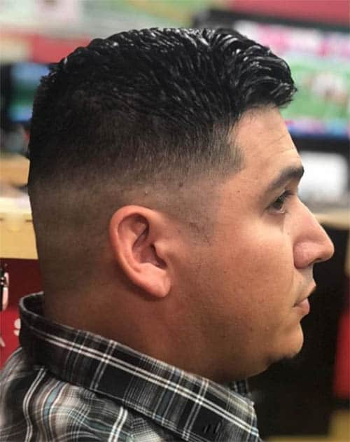 Skin Fade with a Hard Part