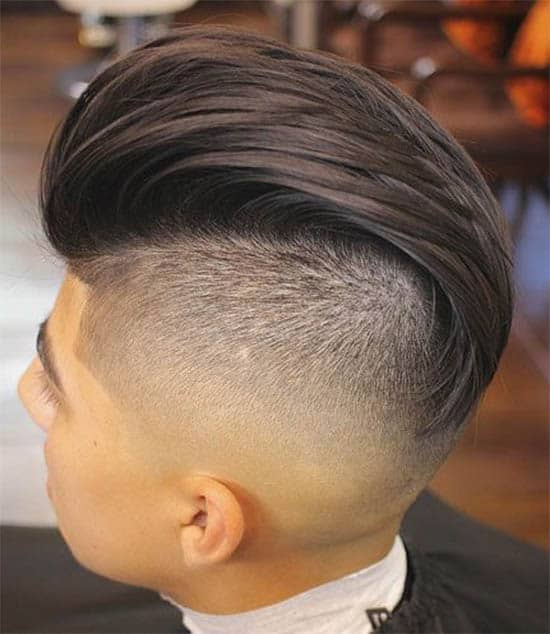 Slick Back + Bald Fade - Long Haircuts For Men