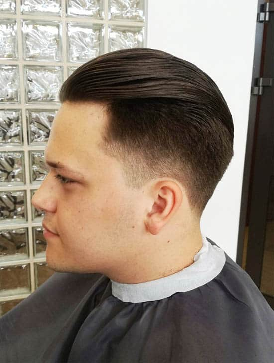 Slick Back + High Fade - Medium Length Hairstyles For Men