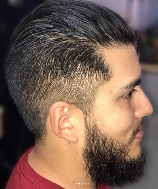 Slick Back Undercut Haircut For Men