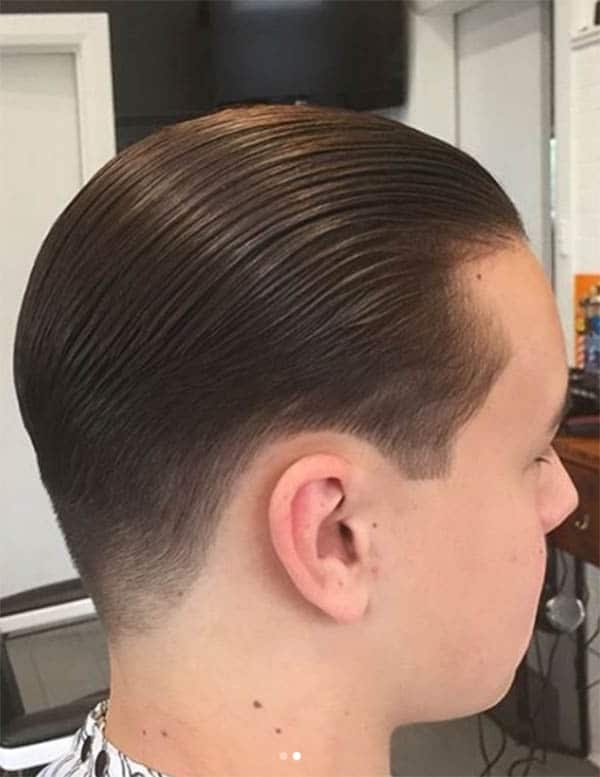 Slick Back for Young Men Haircut For Men