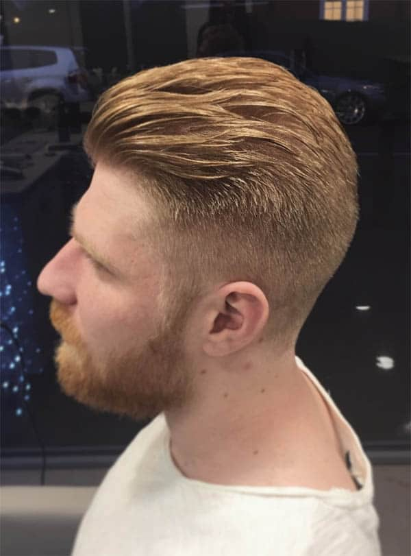 Slick Back with Messy Haircut For Men