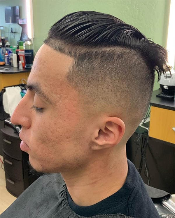 Slicked Back with Fade - Men's Long Hair With Undercut Hairstyles