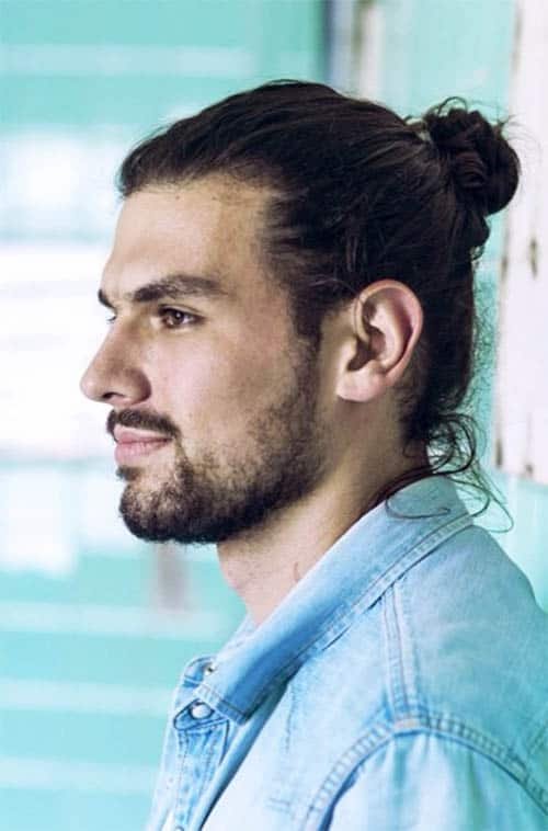 Slightly Curly Man Bun - Trendy Samurai Hairstyles