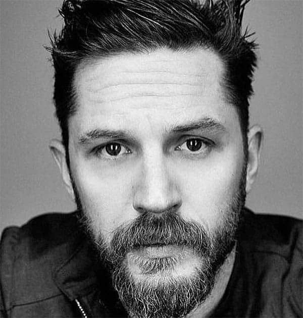 Spiked Up with Beard - Best Tom Hardy Haircut