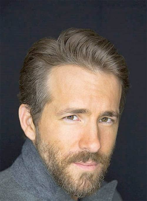 Stylish Lumberjack Look - Ryan Reynolds Best Haircuts