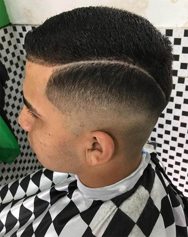 Taper Fade + Hard Part Hairstyle