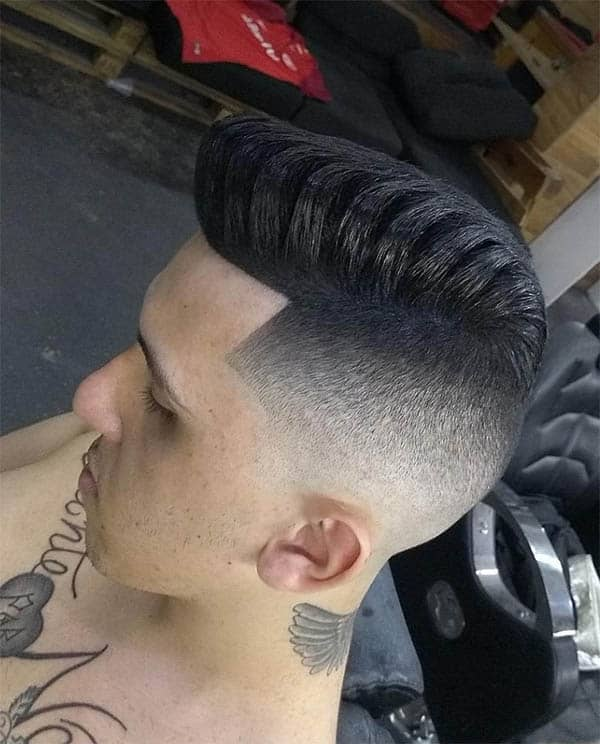 Taper Fade Pomp - Punk Hairstyles For Men