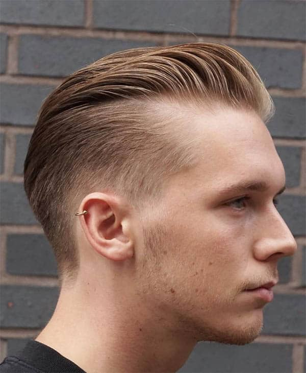 Tapered Cut + Pomp - Haircuts For Balding Men
